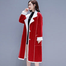 Load image into Gallery viewer, Women Suede Fur Winter Coat 2019 Fashion Thick Faux Sheepskin Long Jacket Overcoat Female Solid Warm Trench Coats AA5238