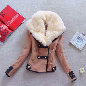 2019 Fashion Winter Women's Warm Trench Coat Jackets Women's Jackets Big Fur Collar Famale Double-breasted Wool Coats Overcoat