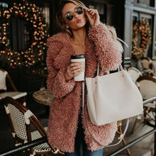 Load image into Gallery viewer, New Fashion UK Womens Teddy Bear Oversized Coat Ladies Borg Zip Faux Fur Jacket  Winter Long Coat