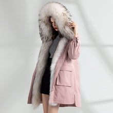 Load image into Gallery viewer, Liner Natural Rabbit Parka Real Coat 2020 Winter Jacket Women Raccoon Fur Collar Korean Long Trench Coats MY3940