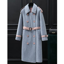 Load image into Gallery viewer, Denny&Dora Women's Faux Fur Coat Sheepskin Shearling Jacket Winter Long Trench Women Overcoat Luxury Thicken Warm Coat