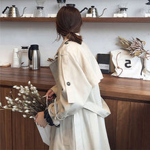 Load image into Gallery viewer, Stylish Over-the-Knee Mid-length Female Trench Coat Double breasted Trendy Lapel Women Clothes Vintage Casual Outwear Trench