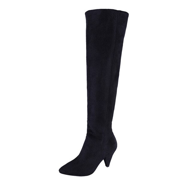 Thin Heels Comfortable Thigh High Boots Femme Denim Women Over The Knee Boots Women Botas Mujer Spring and Autumn Women Shoes