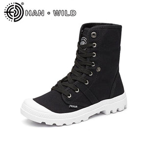 Women's Ankle Boots New Spring Autumn Woman Platform Ankle Boots Breathable Canvas Ankle Boots Female Motorcycle Boots S