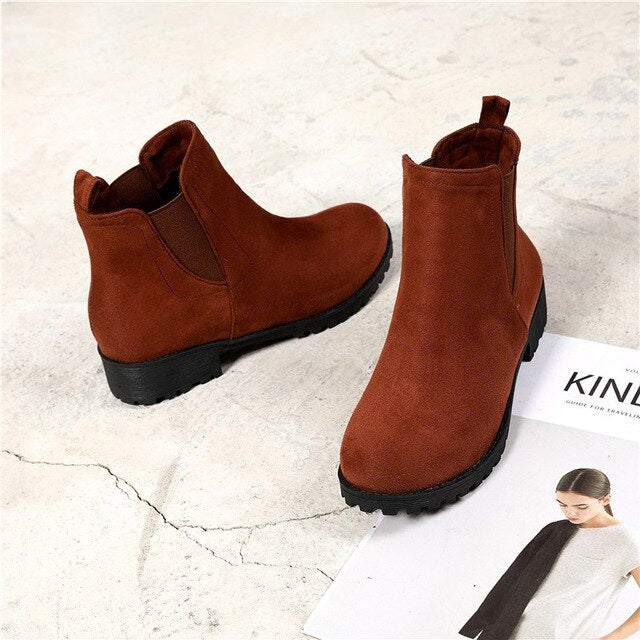 HOLY JASMINE New Spring/Autumn Denim Ankle Boots for Women Zip Round Toe Women Boots Cotton Fabric High (5cm-8cm)  TPR  Basic