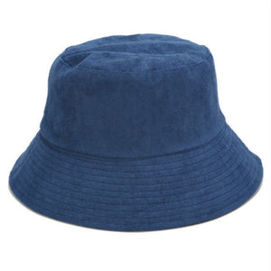 Blank Suede Bucket Hat Solid Spring Fall Women Hat Outdoor Sports Hiking Fishing Cap Sunscreen Fishermen Sun Hat Lady Sunhat Bob