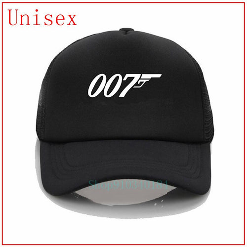 007 Legend James Bond white fitted hat hats baseball cap women gorras hombre baseball hat women golf hat bucket hat cap us-polo