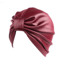 Load image into Gallery viewer, 2017 new women hats leather turban caps head wrap dome caps europe style india hats women beanies skullies for fall and spring