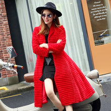 Load image into Gallery viewer, Korean Style Lady Real Sheared Rabbit Fur Coat Jacket Turn Down Collar Autumn Winter Women Fur Trench Outerwear Coats VF1087