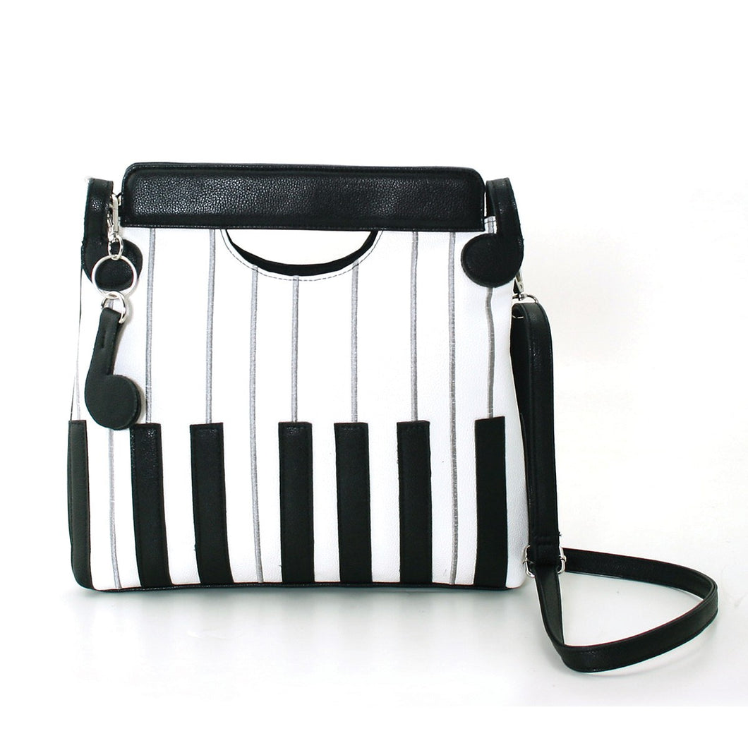 Piano Keys Handbag in Vinyl