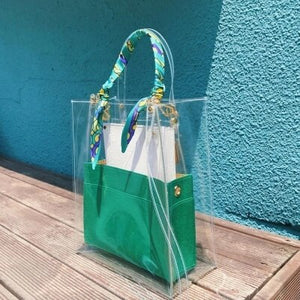 2019 New Brand Summer Designer High Quality Pvc Beach Clear Large Bucket Tote Transparent Chain Big Handbag Small Leather Purses