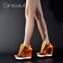 Load image into Gallery viewer, Sinsaut Shoes Women Height Increase Pumps Women Autumn Winter Shoes High Heels Trending Color Unique Design Sneakers