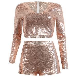 Sexy Sparkling Two Piece Set
