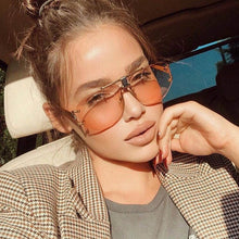 Load image into Gallery viewer, High Quality Pilot Square Sunglasses Women's 2018 New Fashion Glasses Trend Ladies Luxury Rimless Sunglasses Men Gradient Shades