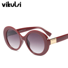 Load image into Gallery viewer, New 2018 High Quality Luxury Brand Sunglasses Women Round Frame Sun Glasses Vintage Fashion Pink Glasses Oval Sun Glasses UV400