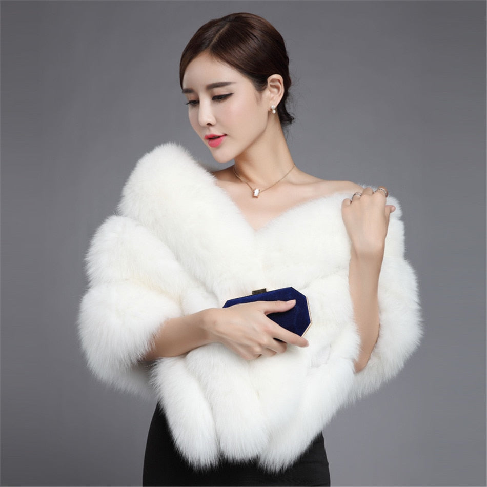 Real Fox Fur Shawl White Fur Coat Wedding White Fur Shawl Cape Wrap Wedding Shawl Jacket Bolero Silver Fox Shawl Black Purple