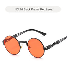 Load image into Gallery viewer, Oulylan Round Metal Steampunk Sunglasses Women Men Fashion Gothic Sun Glasses Luxury Brand Designer High Quality Eyewear UV400