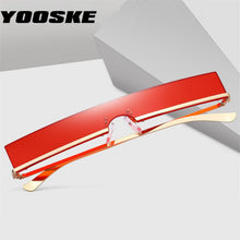 Load image into Gallery viewer, YOOSKE Fashion Sunglasses Men Women Trend Rectangle Sun Glasses Metal Frame High Quality Ladies Vintage Cateye Eyewear UV400