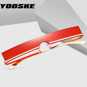 YOOSKE Fashion Sunglasses Men Women Trend Rectangle Sun Glasses Metal Frame High Quality Ladies Vintage Cateye Eyewear UV400