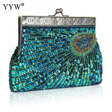 Load image into Gallery viewer, 2019 High Quality Evening Clutch And Purse Tiny Glass Beads Vintage Clutch Bag Women Fashion Sequin Party Wedding Bag Handbag