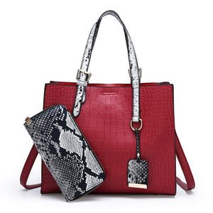2019 Women Bag Two Set Luxury Leather Purse and Handbags High Quality Famous Brands Designer Handbag Female Shoulder Bags sac