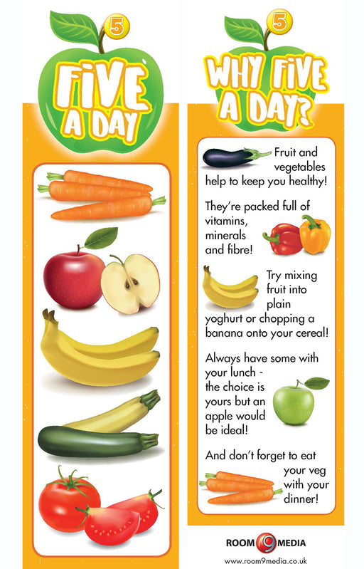 5 A Day bookmark