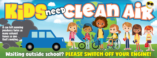 Clean Air Kids Idling banners
