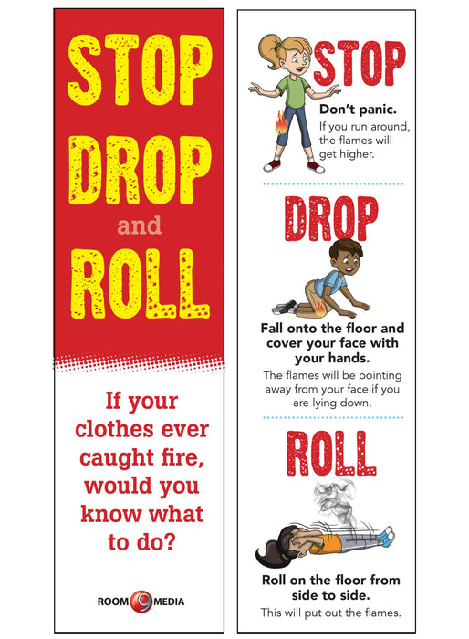 Stop, Drop and Roll Bookmark