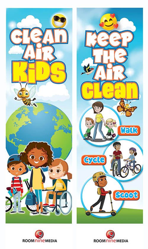 Clean Air Kids Bookmark