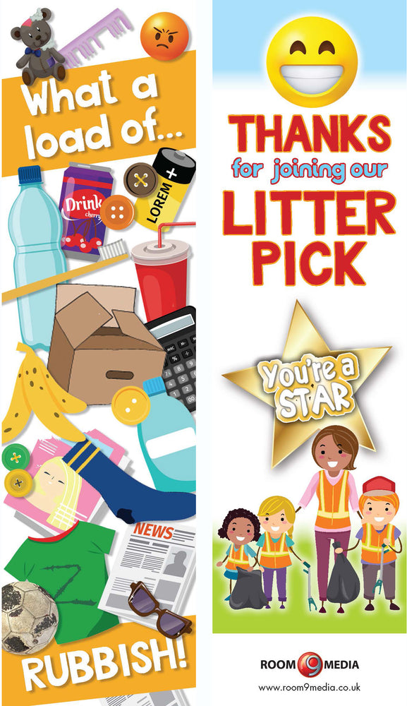Litter picking bookmark