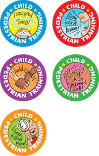 Pedestrian Training Reward Stickers
