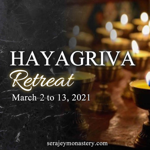Hayagriva Retreat 12/3/2021 马头明王年度閉关,火供,薈供-南印度大会 2021年3月2日 至 2021年3月13日