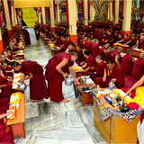 Sangha Offering to 3800 monks </br> 供养4000多位僧人