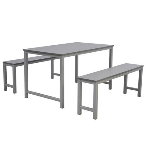 Stainless Steel Tables and bench for School Dining Hall </br> 捐赠大堂桌椅