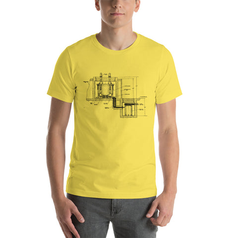 Molten Salt Reactor Diagram - Short-Sleeve Unisex T-Shirt