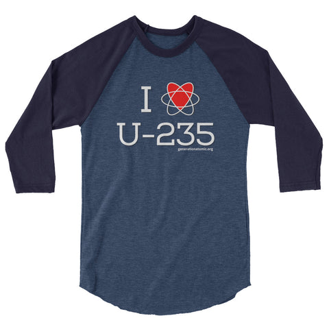 I HEART U-235 - 3/4 sleeve raglan shirt