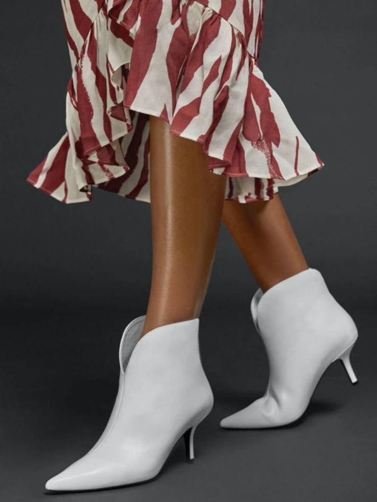 Annabelle Boots White - Season Seven NYC