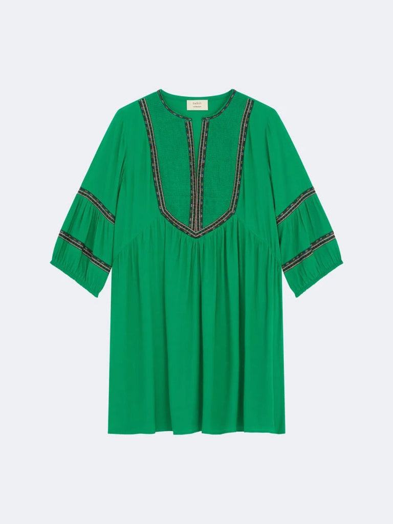 BA&SH Tale Embroidered Crepe Mini Dress - Season Seven NYC