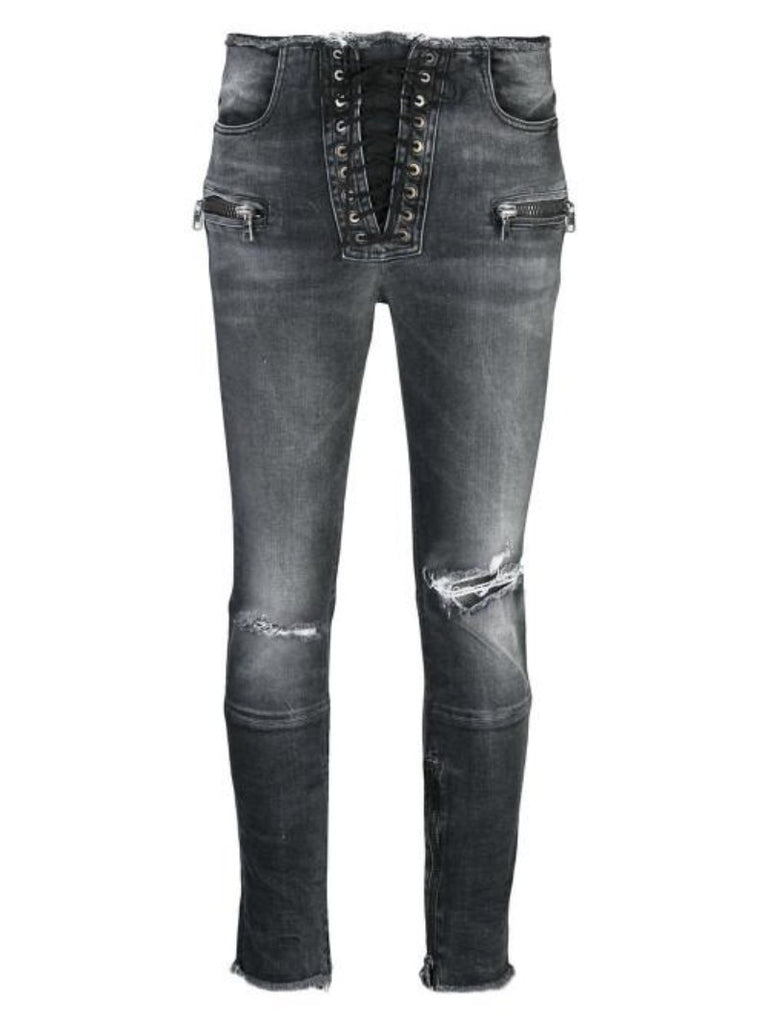 Lace Up Skinny Trousers - Season Seven NYC