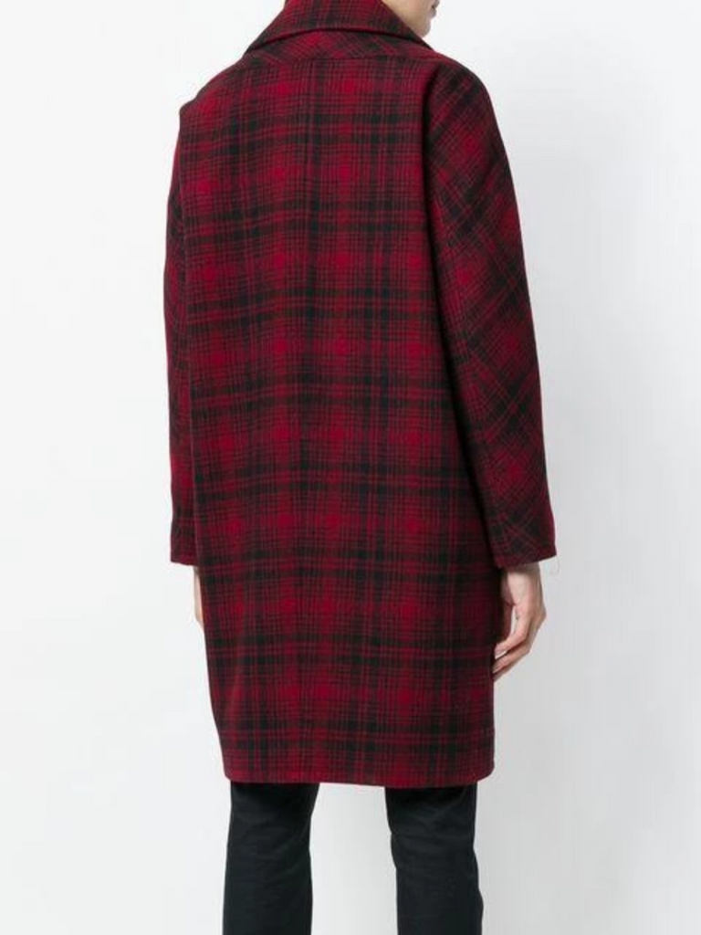 Red and Check Bogart Coat - Season Seven NYC