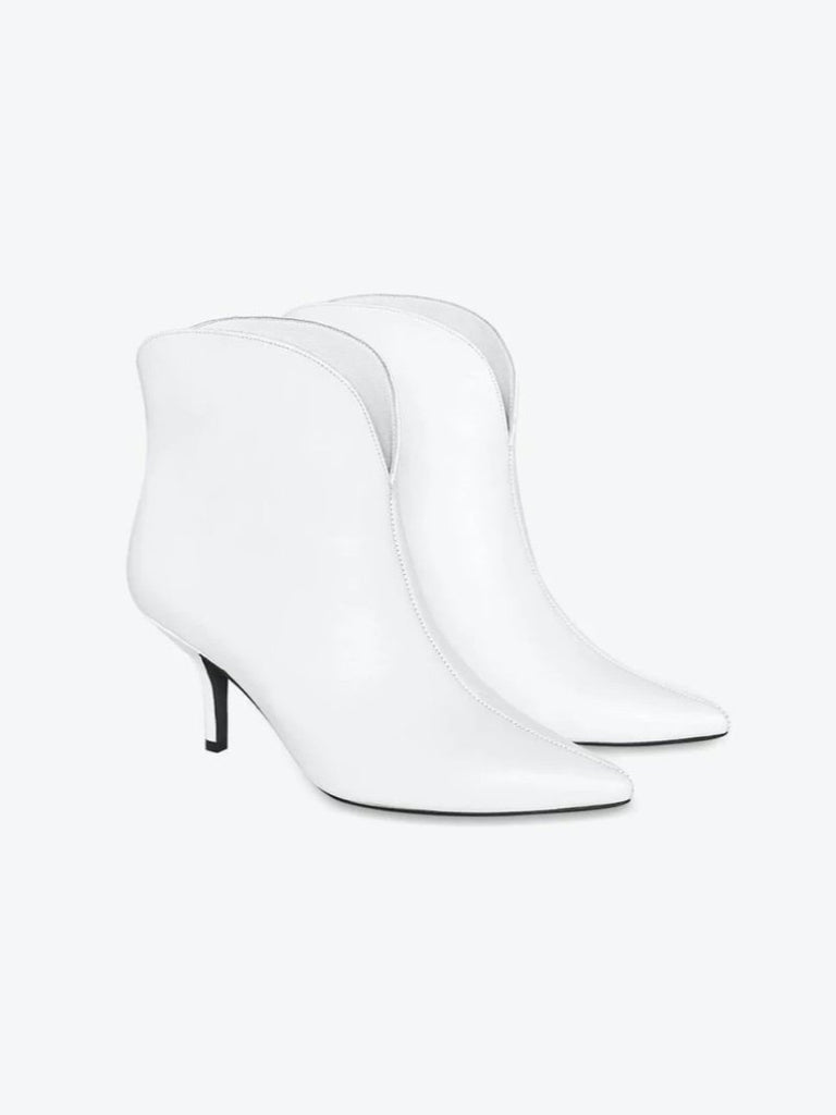 Anine Bing Annabelle Boots White