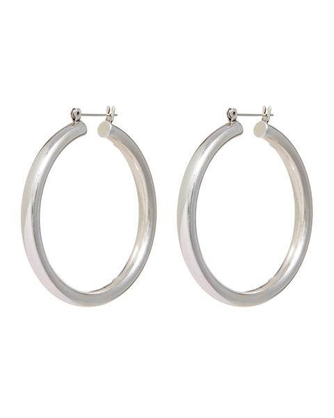 AMALFI TUBE HOOPS- SILVER - Season Seven NYC