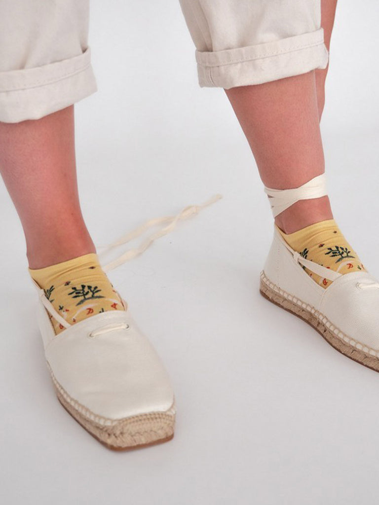 Ankle Socks Wilted Yellow Fox - Season Seven NYC