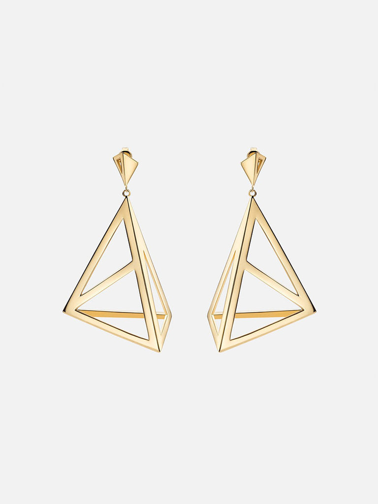 Apex Earrings, Gold - Season Seven NYC