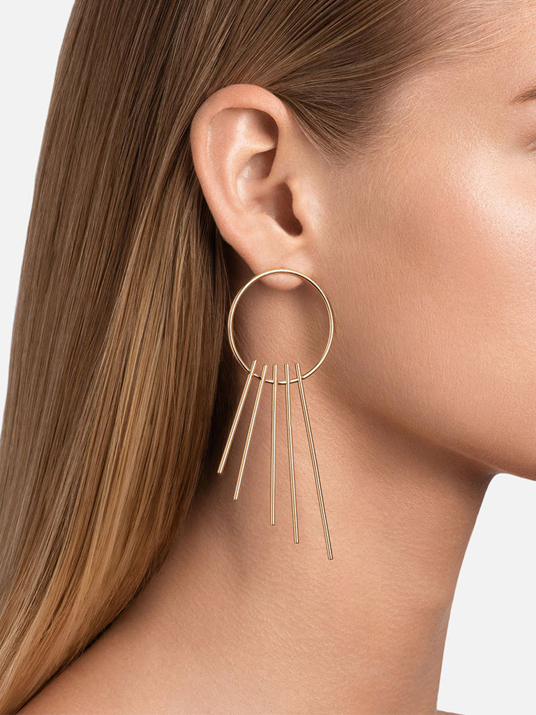 Apogee Earrings, Gold - Season Seven NYC