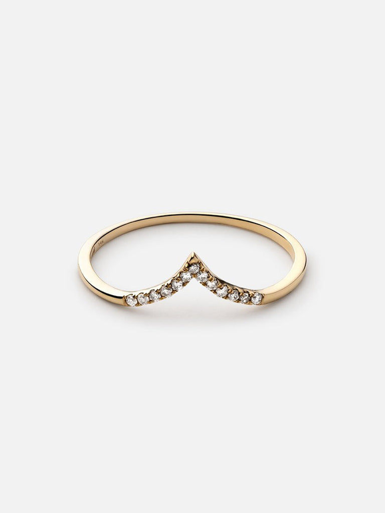 Astor Ring, 14k Gold Pavé - Season Seven NYC