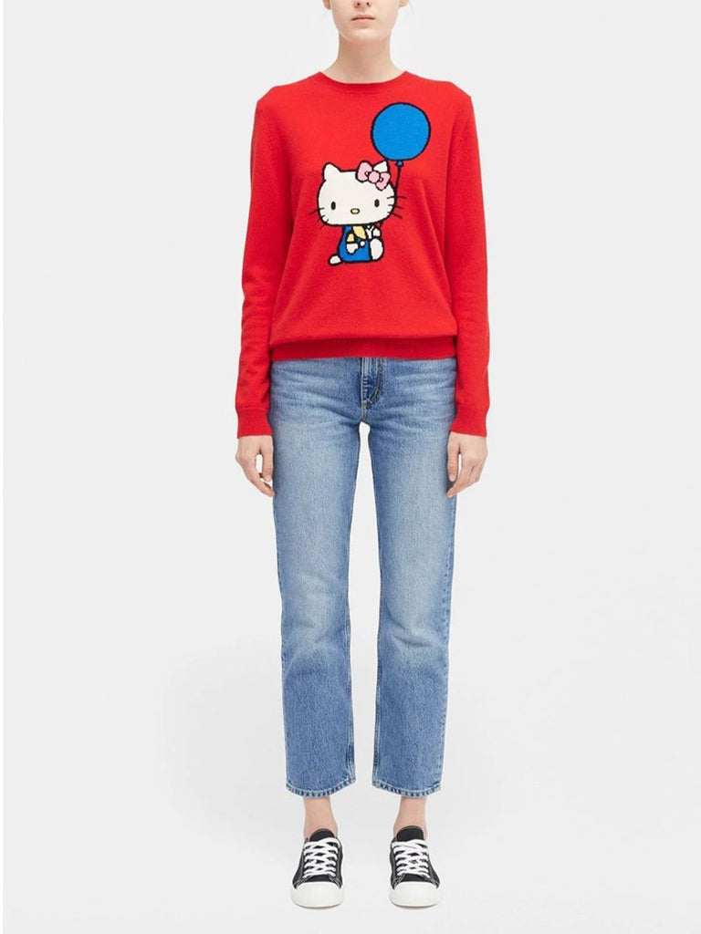 HELLO KITTY Balloon-motif Cashmere and Wool-blend Jumper - Season Seven NYC