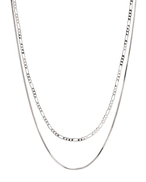 CECILIA CHAIN NECKLACE- SILVER