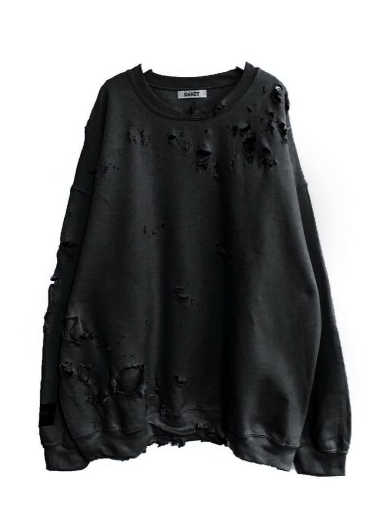 Black hand destroyed crewneck - Season Seven NYC