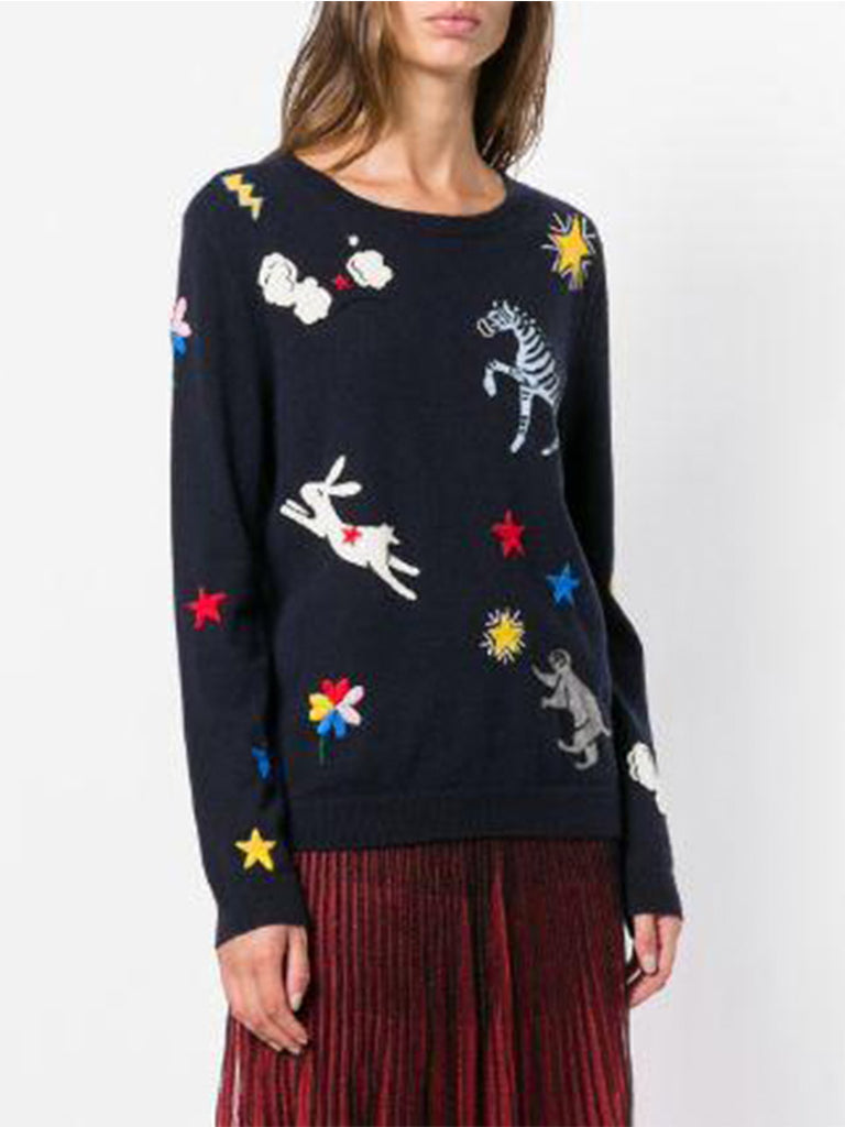 Embroidered Fitted Sweater - Season Seven NYC